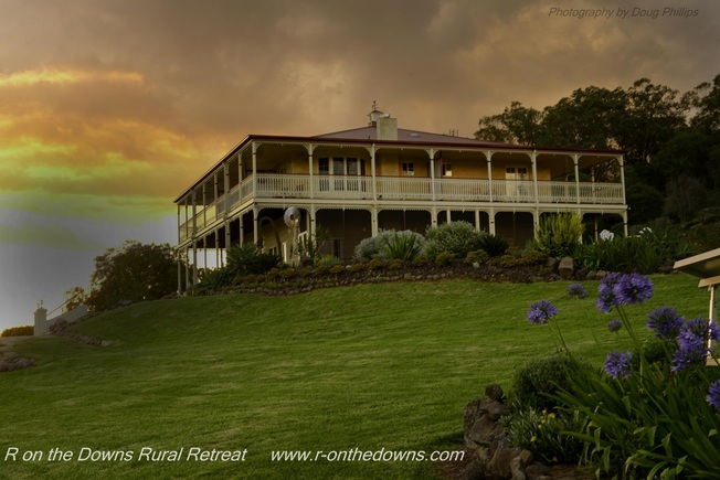 Federation Homestead at Sunset